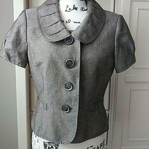 Tahari Short Sleeve Vintage Brown Jacket